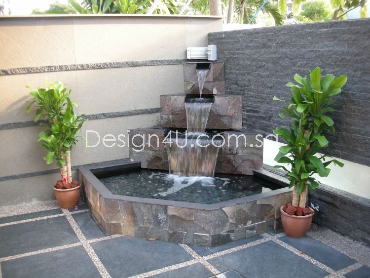 Singapore koi pond water feature fiberglass swimming for Fish pond features